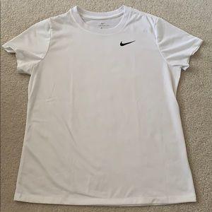 Nike Dri-Fit White Legend T-Shirt - Large.